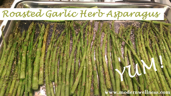 Roasted Garlic Herb Asparagus