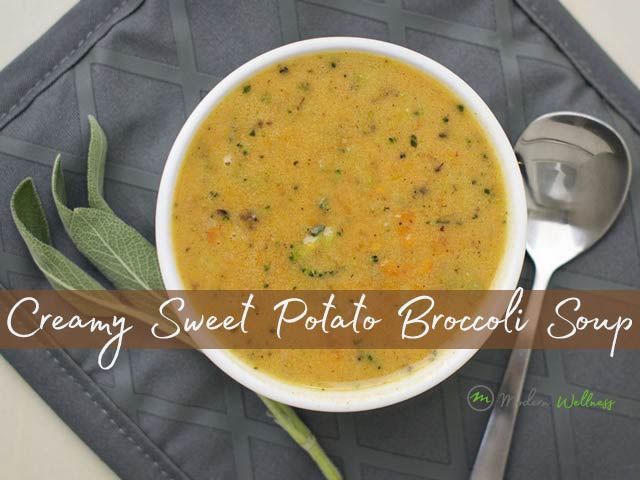 Creamy Sweet Potato Broccoli Soup