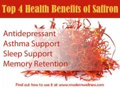 Top 4 Health Benefits of Saffron