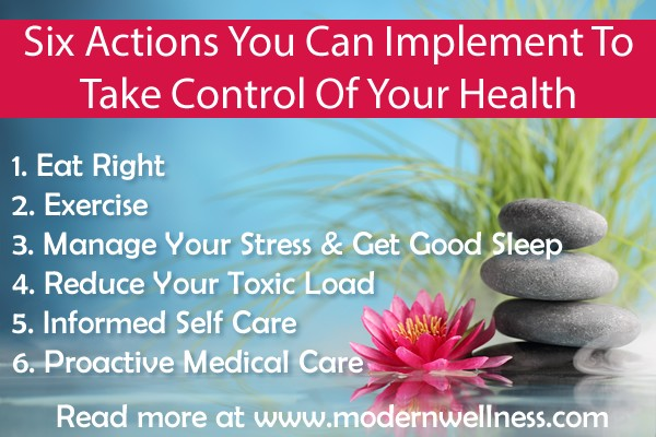 Six Actions You Can Implement To Take Control Of Your Health
