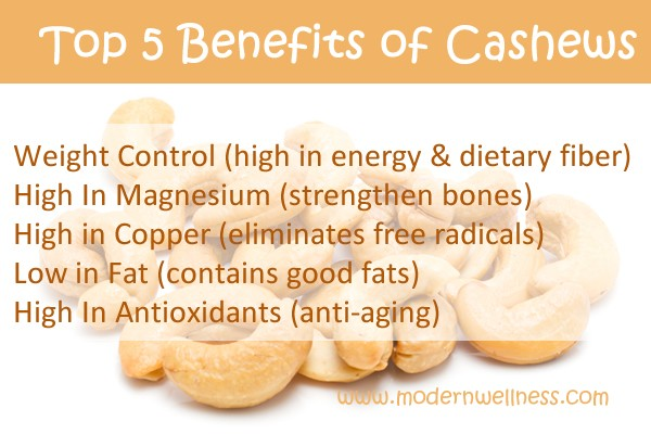 Top 5 Benefits of Cashews