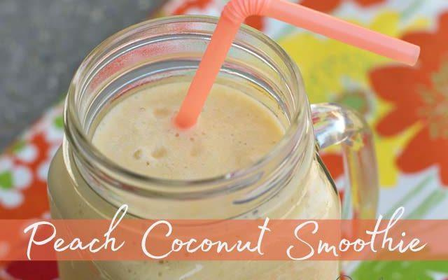 Peach Coconut Smoothie
