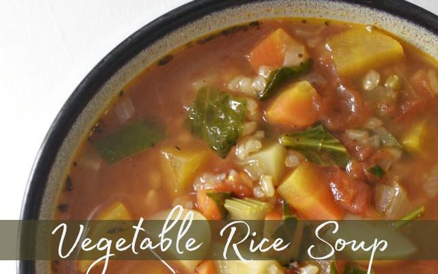 One Pot Vegetable Rice Soup