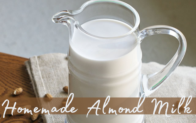 Healthy Homemade Almond Milk