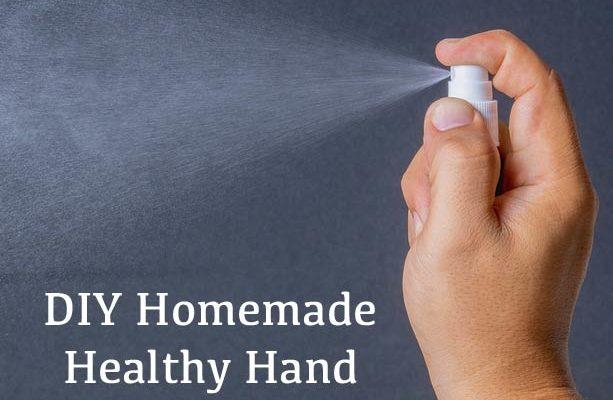 DIY Homemade Healthy Hand Spray