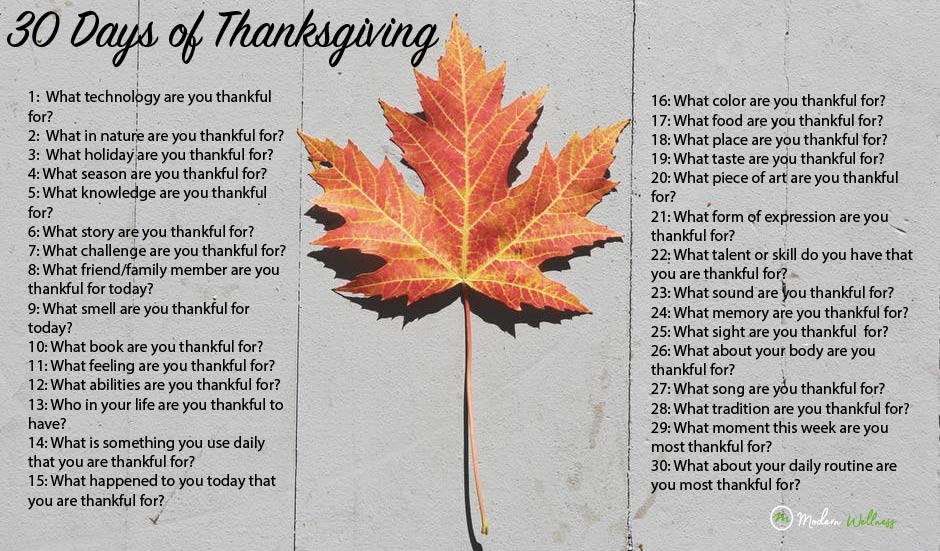 30 Days of Thanksgiving